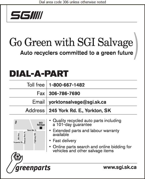 SGI Salvage (245 York Rd E) - Auto Wrecking Digital Ad