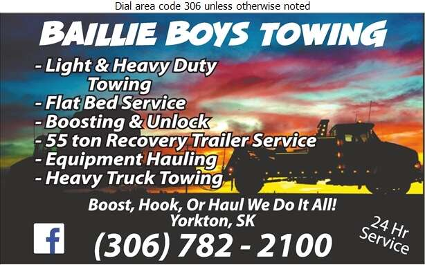 Baillie Boy's Towing - Towing & Boosting Service Digital Ad