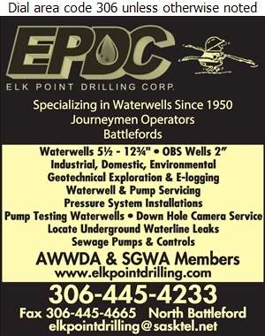 Elk Point Drilling Corp - Water Well Drilling & Service Digital Ad