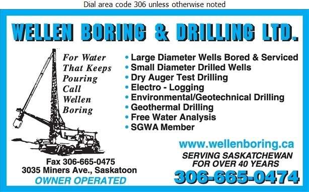 Wellen Boring & Drilling Ltd - Water Well Drilling & Service Digital Ad