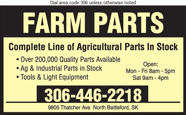 Farm Parts - Agricultural Implements Sales, Service & Parts Digital Ad