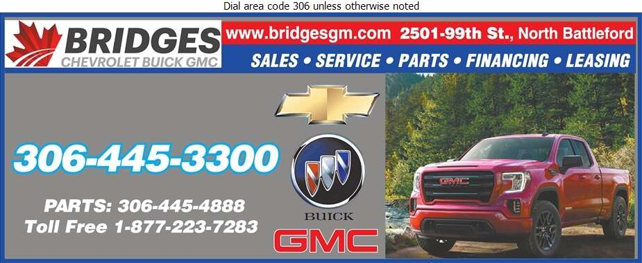 Bridges Chevrolet Buick GMC (Fax) - Auto Dealers New Cars Digital Ad