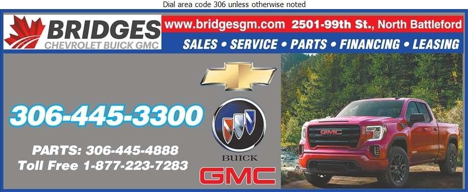 Bridges Chevrolet Buick GMC (PARTS DEPT) - Auto Dealers New Cars Digital Ad