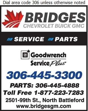 Bridges Chevrolet Buick GMC (PARTS DEPT) - Auto Repairing Digital Ad