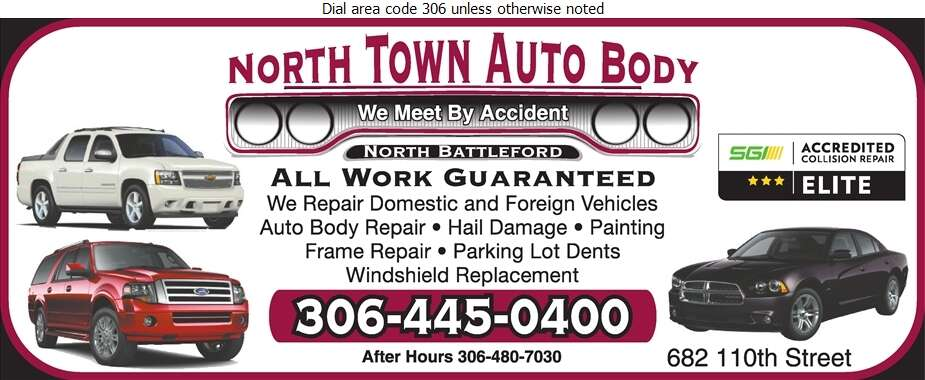 North Town Auto Body Ltd - Auto Body Repairing Digital Ad
