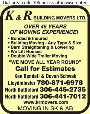 K & R Building Movers Ltd - Movers Heavy Hauling Digital Ad
