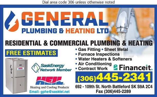 General Plumbing Heating & Electric Ltd - Plumbing Contractors Digital Ad