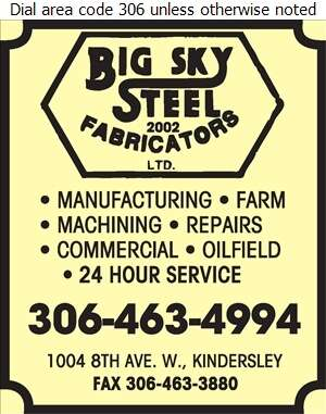 Big Sky Steel Fabricators (2002) Ltd - Welding Digital Ad