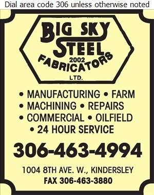 Big Sky Steel Fabricators (2002) Ltd - Welding Digital Ad