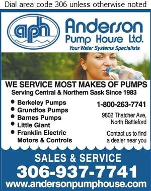 Anderson Pump House Ltd - Pumps Digital Ad