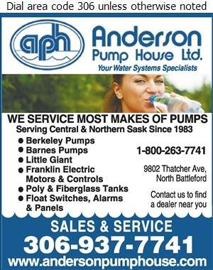 Anderson Pump House Ltd - Septic Tanks Sales & Service Digital Ad