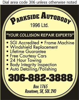 Parkside Auto Body (1996) Ltd - Auto Body Repairing Digital Ad