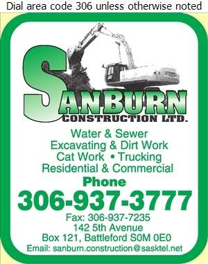Sanburn Construction Ltd - Contractors General Digital Ad