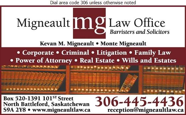 Migneault Law Office - Lawyers Digital Ad