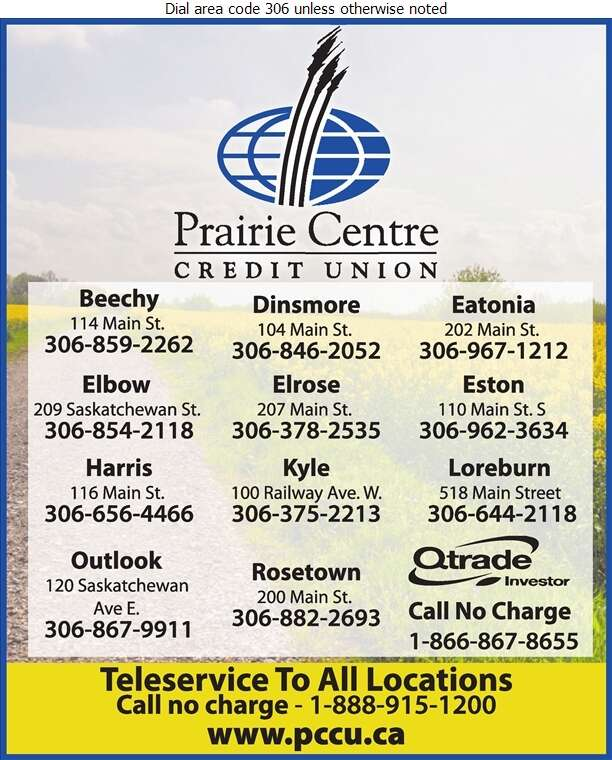 Prairie Centre Credit Union (Teleservice) - Credit Unions Digital Ad