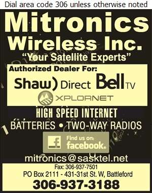 Mitronics - Satellite Receiving Equipment Digital Ad