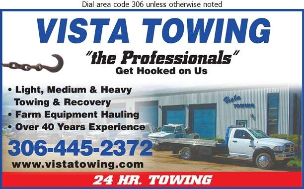 Vista Towing (1982) - Towing & Boosting Service Digital Ad