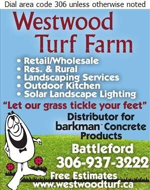 Westwood Turf Farm - Sod & Sodding Service Digital Ad