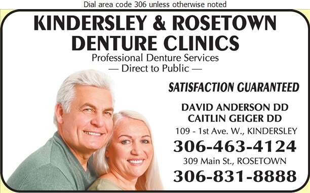 Kindersley Denture Clinic (David Anderson Denturist) - Denturists Digital Ad