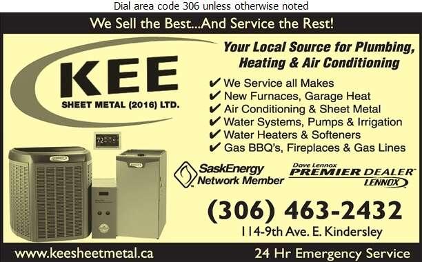Kee Sheet Metal Plumbing & Heating - Plumbing Contractors Digital Ad