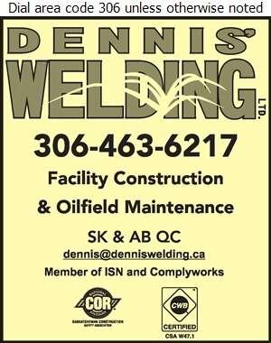 Dennis' Welding Ltd - Oil & Gas Well Service Digital Ad