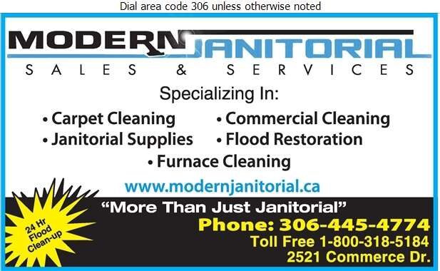 Modern Janitorial Sales & Services - Carpet & Rug Cleaners Digital Ad