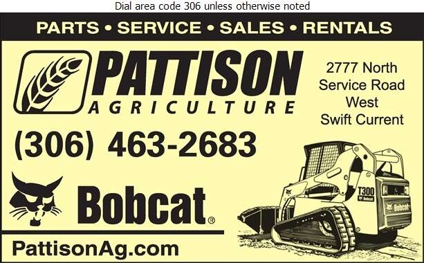 Pattison Agriculture Limited (Lars Schmidt - Service Mgr) - Contractors Equipment Supplies & Service Digital Ad