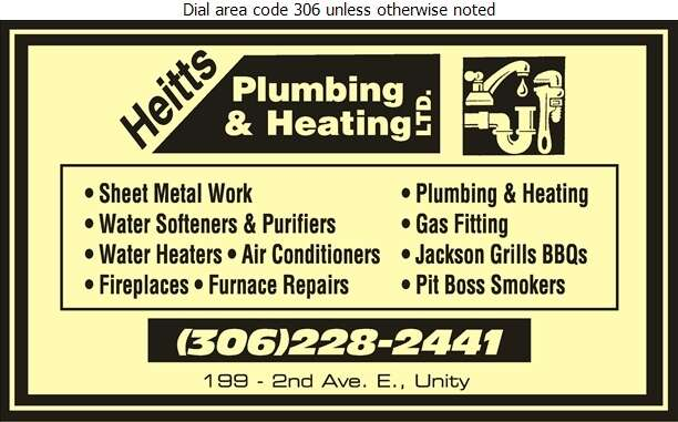Heitt's Plumbing & Heating Co Ltd - Plumbing Contractors Digital Ad