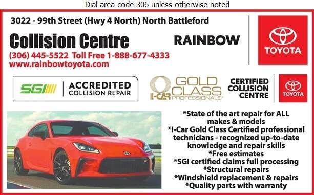 Rainbow Toyota (Parts) - Auto Body Repairing Digital Ad
