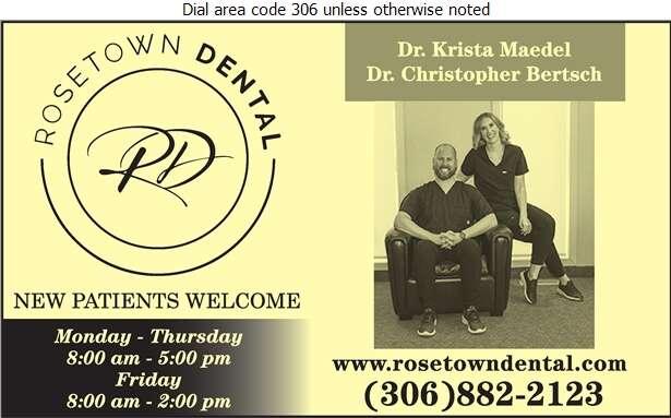 Rosetown Dental - Dentists Digital Ad