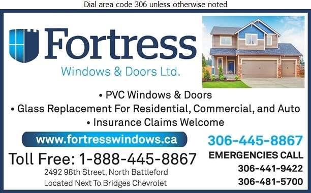Fortress Windows & Doors - Glass Auto, Float, Plate, Window Etc Digital Ad