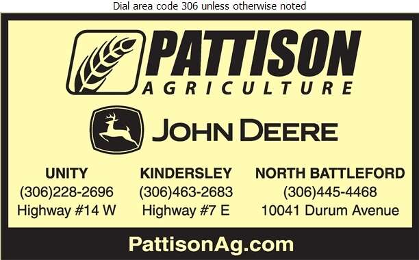 Pattison Agriculture Limited (Service Dept) - Agricultural Implements Sales, Service & Parts Digital Ad