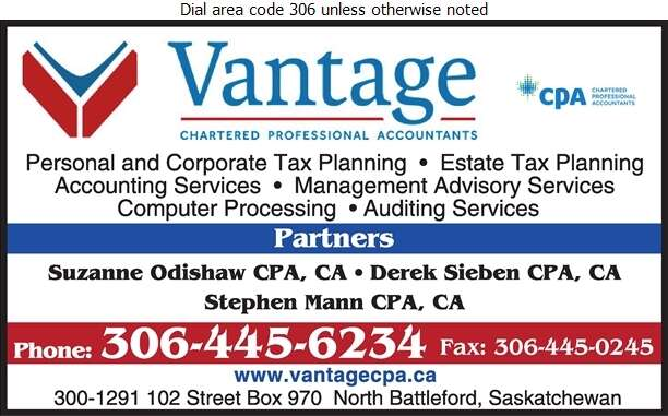 Vantage Chartered Professional Accountants (Stephen Mann) - Accountants Chartered Professional Digital Ad