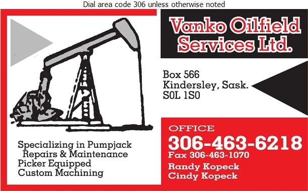 Vanko Oilfield Services Ltd - Oil & Gas Well Service Digital Ad