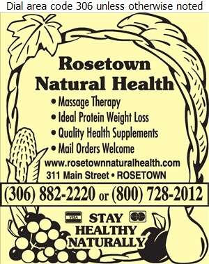 Rosetown Natural Health (Ideal Protein Weight Loss Clinic) - Health Food Products Digital Ad