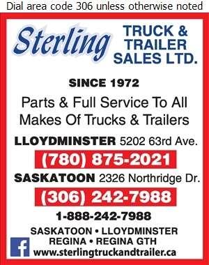 Sterling Truck & Trailer Sales Ltd - Trailers Equipment & Parts Digital Ad