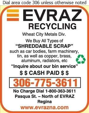 Evraz Recycling (Pasqua St N Of EVRAZ) - Scrap Metals Digital Ad