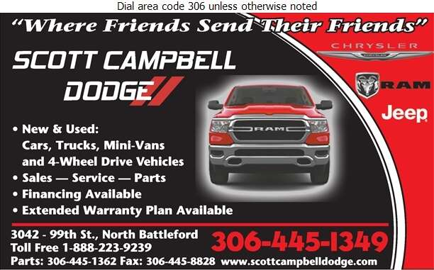 Scott Campbell Dodge Ltd (Parts Dept) - Auto Dealers New Cars Digital Ad