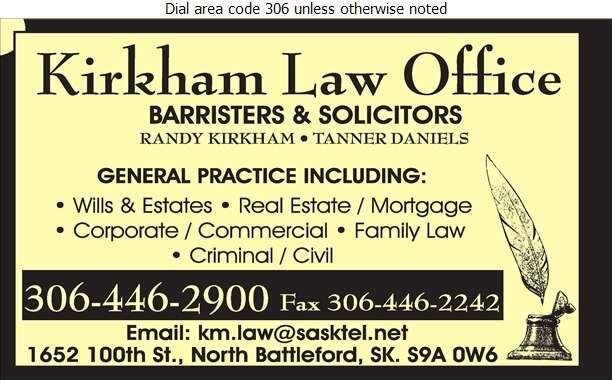 Kirkham Miller - Lawyers Digital Ad