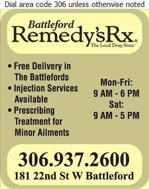 Battleford Remedy's Rx - Pharmacies Digital Ad