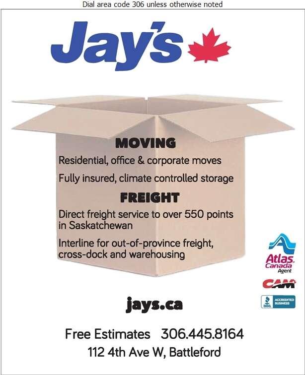 Jay's Transportation Group Ltd - Movers Digital Ad