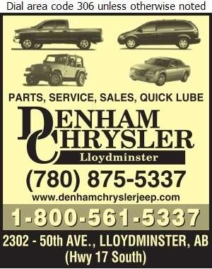 Denham Chrysler Jeep Ltd - Auto Dealers New Cars Digital Ad