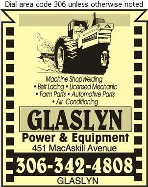 Glaslyn Power & Equipment - Agricultural Implements Sales, Service & Parts Digital Ad