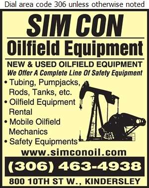 Sim-Con Oilfield Equipment Ltd (Harvey Simon) - Oil & Gas Well Equipment & Supplies Digital Ad