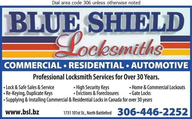 Blueshield Locksmiths - Locksmiths Digital Ad