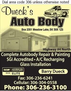 Dueck's Autobody - Auto Body Repairing Digital Ad
