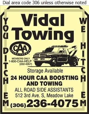 Vidal Towing - Towing & Boosting Service Digital Ad