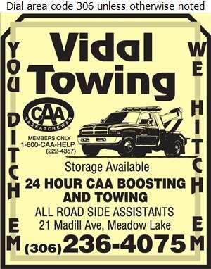 Vidal Towing - Towing & Boosting Service Digital Ad