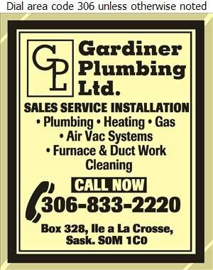 Gardiner Plumbing Ltd - Plumbing Contractors Digital Ad