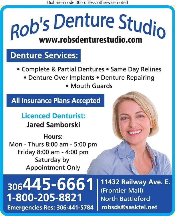 Rob's Denture Studio Ltd - Denturists Digital Ad